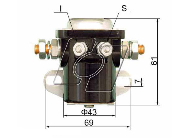 Ford Starter Solenoid FO-103