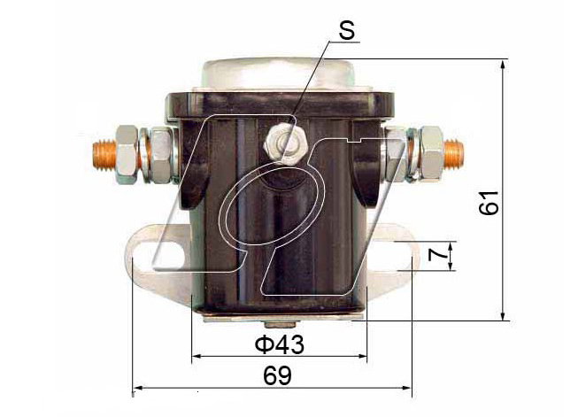 Ford Starter Solenoid FO-108R